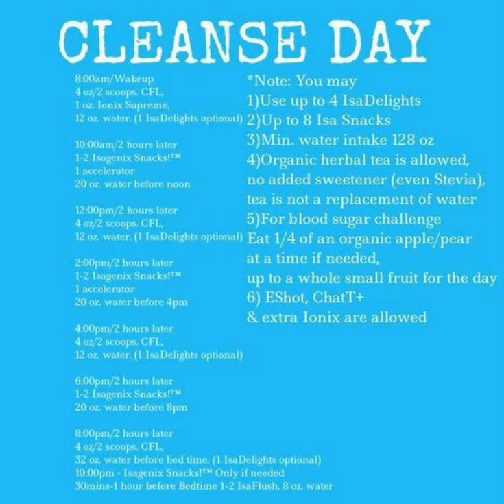 isagenix 9 day cleanse system guide