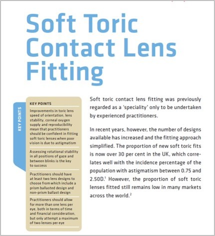 toric contact lens fitting guide